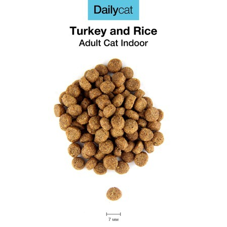 Dailycat Adult Indoor Turkey для домашних кошек с индейкой Гранулы Превью